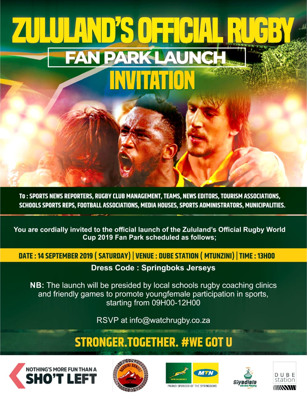 Rugby World Cup Fan Park Launch